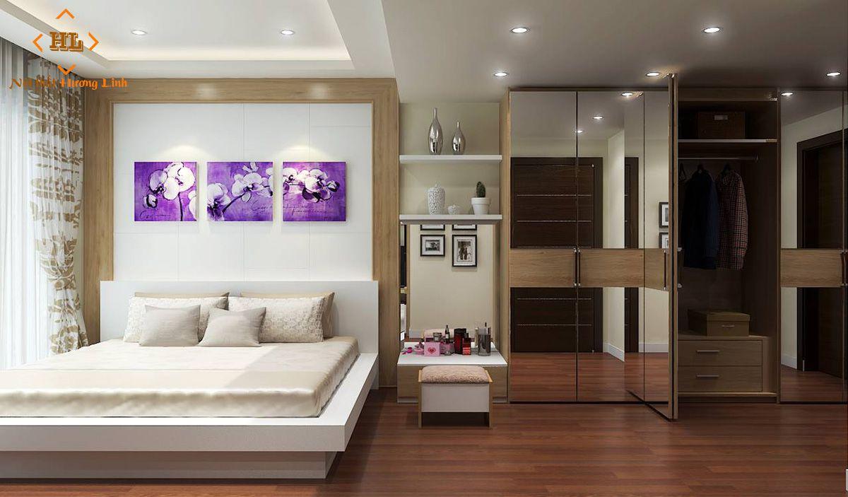 Mẫu phòng ngủ chung cư hiện đại đẹp