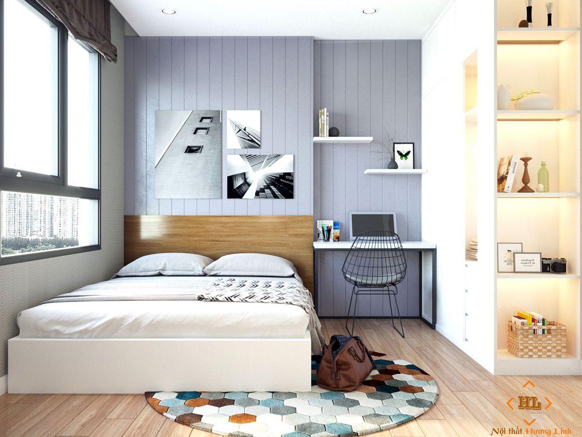 Mẫu phòng ngủ chung cư tối giản đẹp