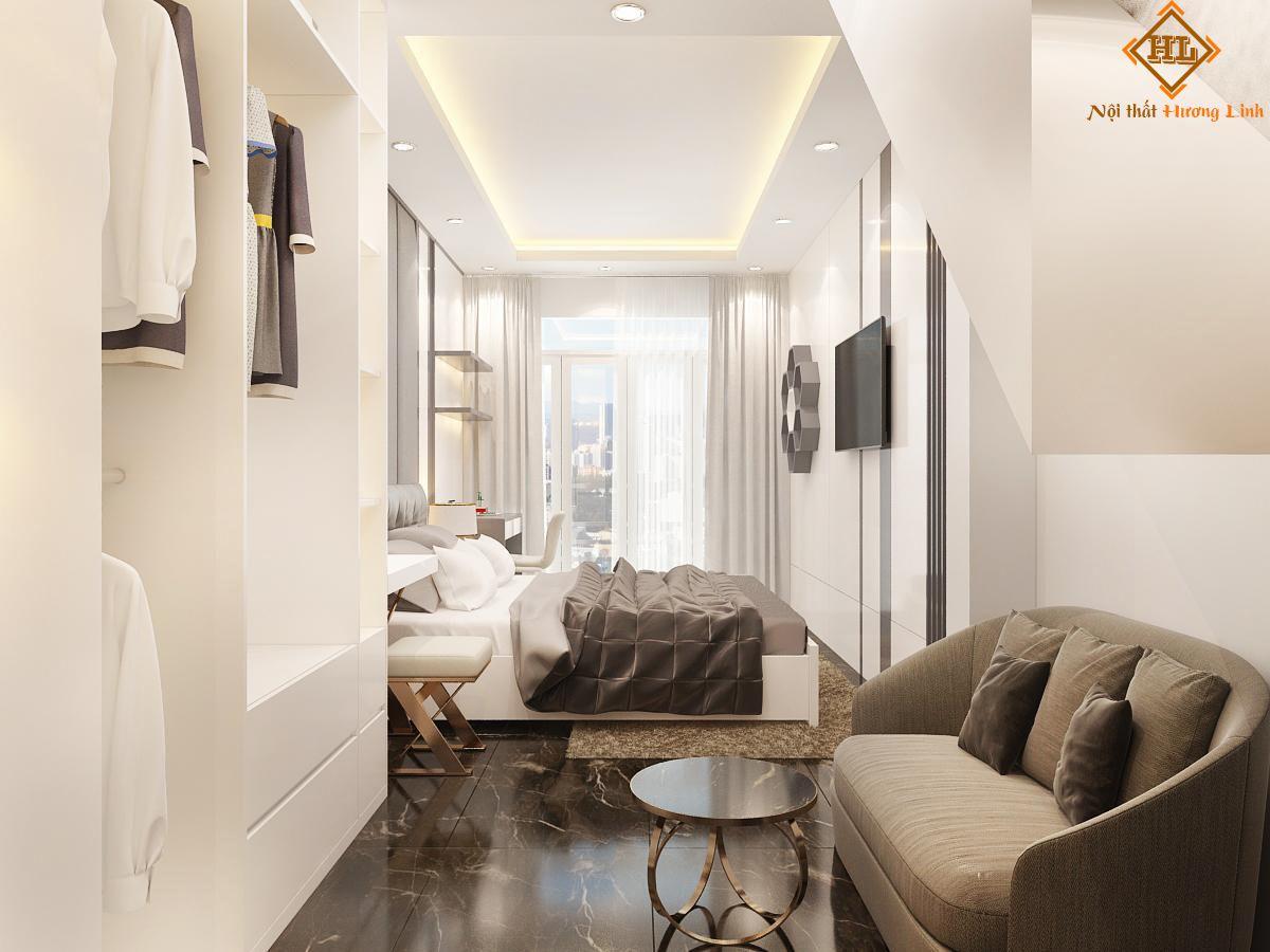 Mẫu phòng ngủ master căn hộ chung cư đẹp 03