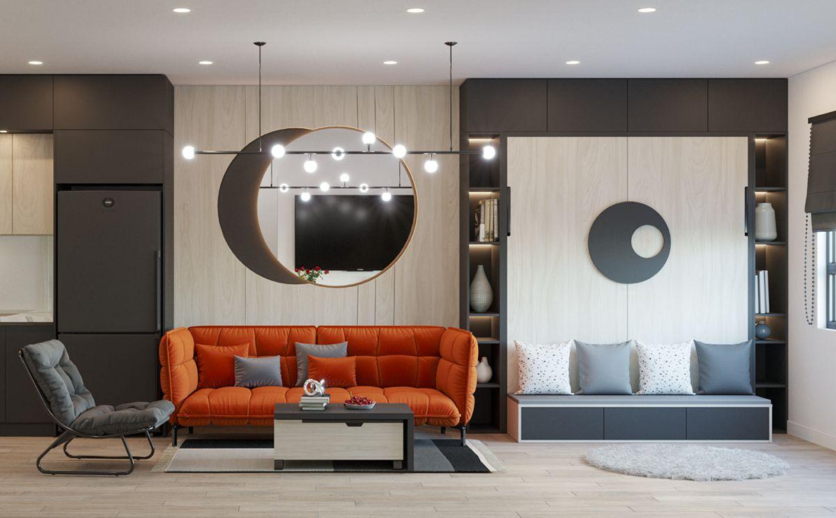 Mẫu nhà đẹp với nội thất thông minh