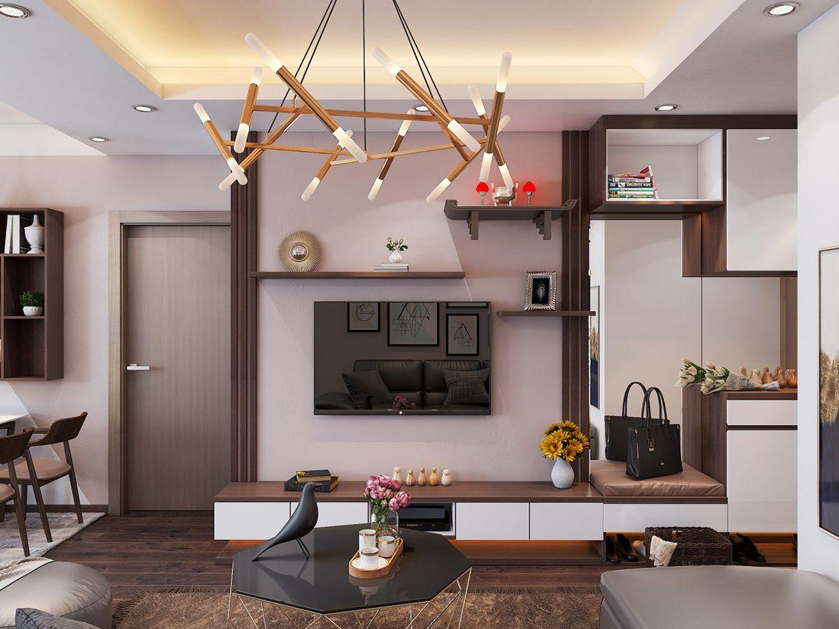 Thiết kế phòng khách nhà chung cư hiện đại