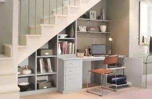 Ý tưởng thiết kế góc chết cầu thang bàn làm việc