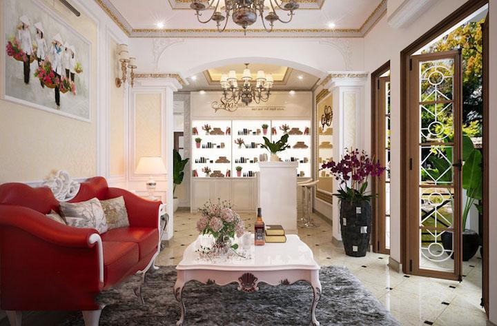 Thiết kế nội thất spa tân cổ điển