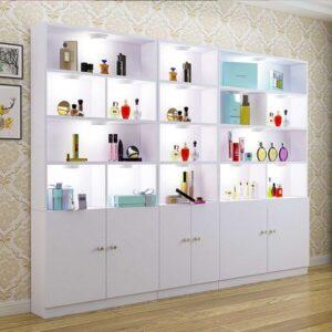 Tủ trưng bày mỹ phẩm cho spa đẹp