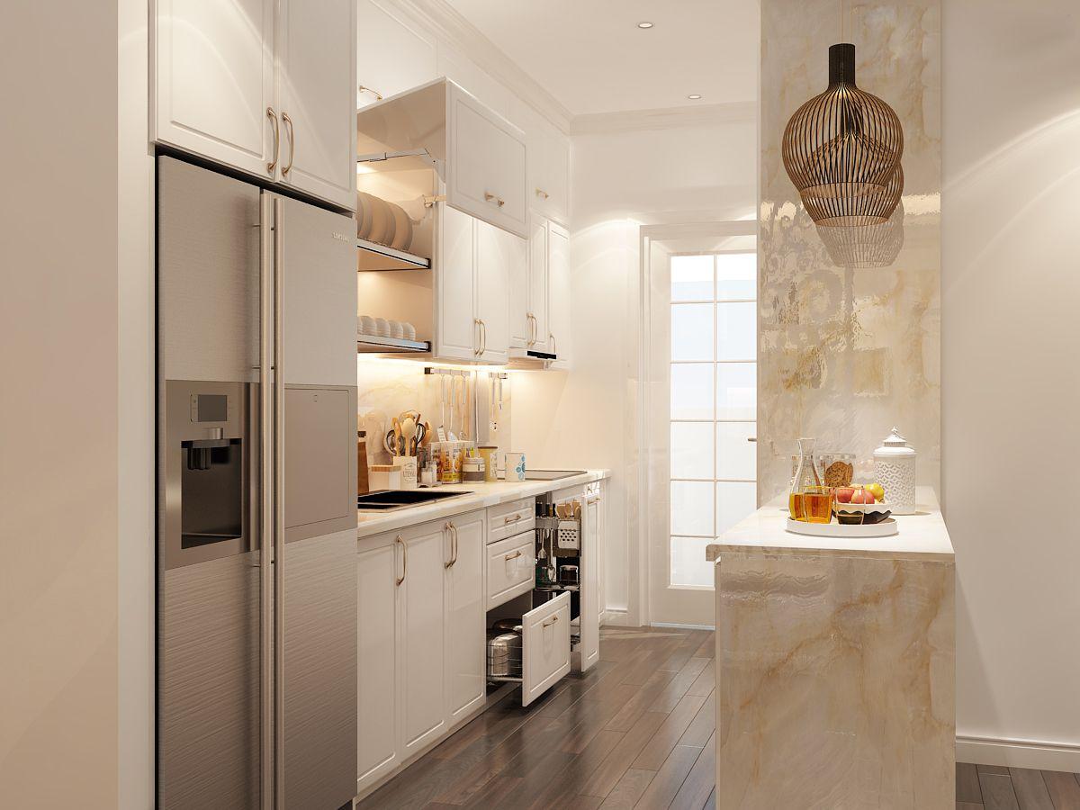 Mẫu phòng bếp căn hộ cao cấp