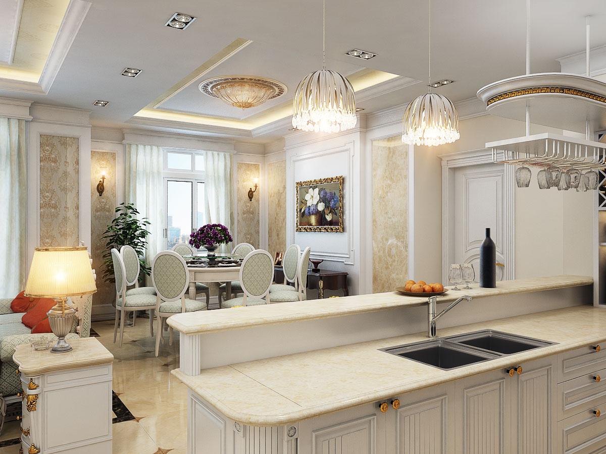 Thiết kế nội thất chung cư cao cấp 100m2