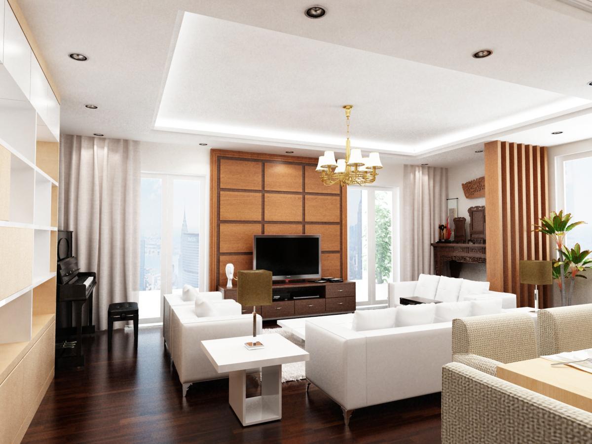 Mẫu nội thất chung cư cao cấp 85m2