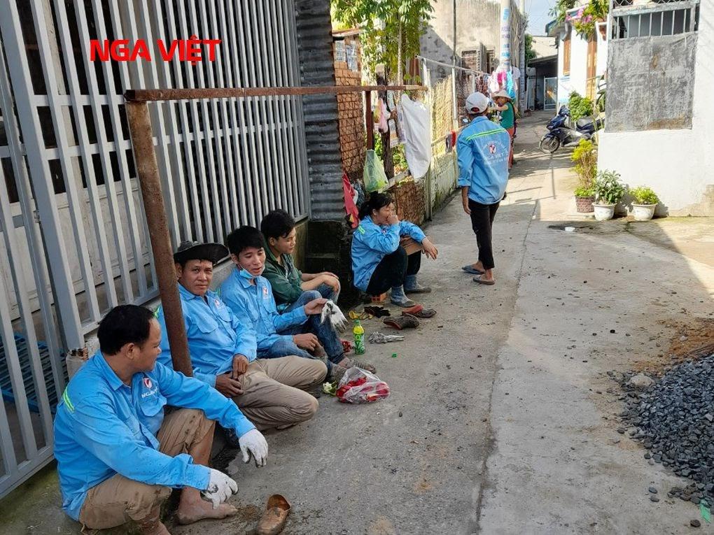 Đội thợ thi công nhà ở tại TpHCM