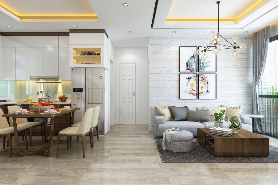 Thiết kế nội thất chung cư cao cấp 80m2