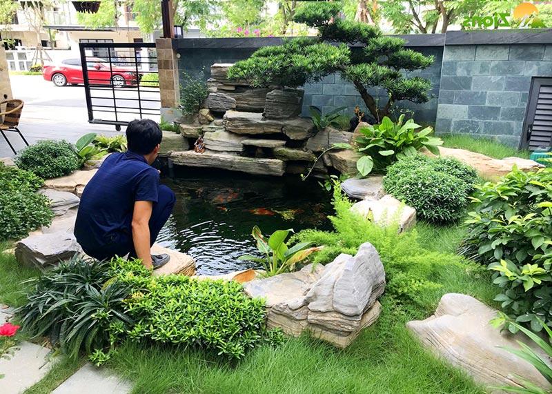 Lý do chọn xây hồ cá trước nhà theo phong thủy
